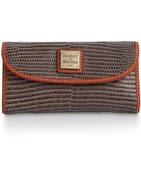 Dooney & Bourke - Lizard-embossed Continental Clutch Wallet - Lyst