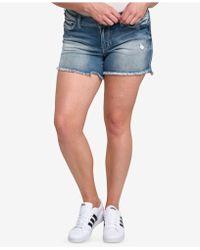 Silver Jeans Co. - Plus Size Aiko Cutoff Denim Shorts - Lyst