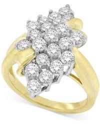 Macy's - Diamond Leaf Cluster Ring (2 Ct. T.w.) In 14k Gold - Lyst