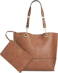 Calvin Klein - Sonoma Reversible Novelty Tote With Pouch - Lyst