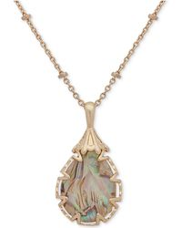 "Lonna & Lilly - Large Stone Pendant Necklace, 16"" + 3"" Extender, Created For Macy's - Lyst"