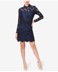 Betsey Johnson | Illusion Lace Mock-neck Sheath Dress | Lyst