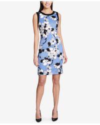 Tommy Hilfiger - Floral-printed Sheath Dress - Lyst