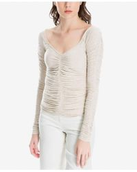 Max Studio - Ruched Top, Created For Macy's - Lyst