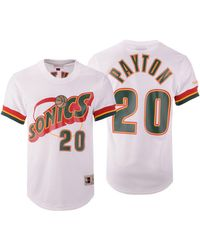 Mitchell   Ness - Gary Payton Seattle Supersonics Name And Number Mesh  Crewneck Jersey - Lyst c7e119666