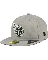 KTZ - Tennessee Titans Heather Black White 59fifty Cap - Lyst