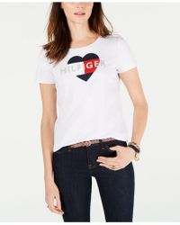 a2050fd5833 Lyst - Tommy Hilfiger Plus Size Floral-print Logo T-shirt in Purple