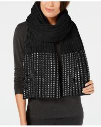 DKNY - Studded Ribbed Oversized Scarf, Created For Macy's - Lyst