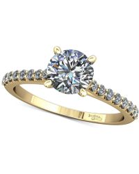 Macy's - Diamond Cathedral Mount Setting (1/5 Ct. T.w.) In 14k Gold - Lyst