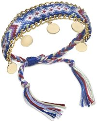 INC International Concepts - Gold-tone Multicolor Braided Friendship Bracelet, Created For Macy's - Lyst