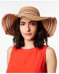 Betsey Johnson - Rainbow Fringe Floppy Hat - Lyst