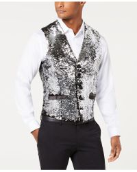 INC International Concepts - Slim-fit Reversible Sequined Vest, Created For Macy's - Lyst