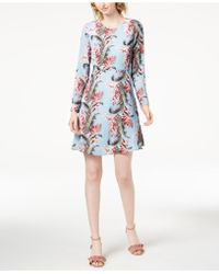Maison Jules - Retro Floral-print Fit & Flare Dress, Created For Macy's - Lyst