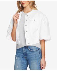 1.STATE - Collarless Wide-sleeve Denim Jacket - Lyst