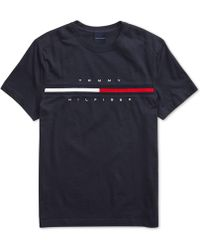 308d1fed Tommy Hilfiger - Tino T-shirt With Magnetic Closure At Shoulders - Lyst