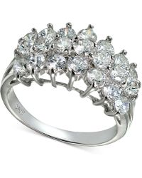 Giani Bernini - Cubic Zirconia Cluster Ring In Sterling Silver - Lyst