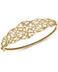 Macy's - Openwork Vine Bangle Bracelet In 10k Gold - Lyst