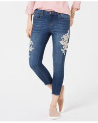 Style & Co. - Petite Lace-embellished Skinny Jeans, Created For Macy's - Lyst