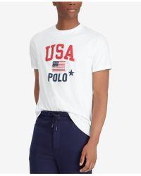 Polo Ralph Lauren - Flag Print Classic-fit T-shirt - Lyst