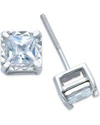 Macy's - Diamond Stud Earrings (3/4 Ct. T.w.) In 14k White Gold - Lyst