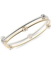Nine West - 2-pc. Set Crystal Bangle Bracelets - Lyst