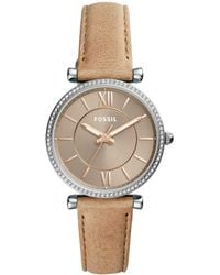9eb296faf Fossil Women's Georgia Mini Sand Leather Strap Watch 26mm Es3262 in ...
