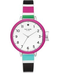 Kate Spade - Women's Park Row Multicolored Silicone Strap Watch 34mm Ksw1312 - Lyst