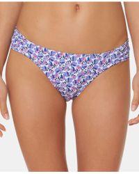 57373b7178b3f Jessica Simpson Bandeau Floral Print Bikini Top - Lyst