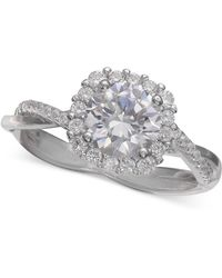 c2d547f5224b2 Cubic Zirconia Halo Ring In Sterling Silver, Created For Macy's