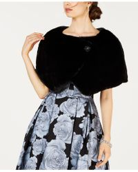 Tahari - Embellished Faux-fur Capelet - Lyst
