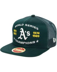 the best attitude b4068 191e8 KTZ - Oakland Athletics Team Front Trucker 9fifty Snapback Cap - Lyst