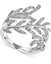 Effy Collection - Effy Diamond Leaf Ring (5/8 Ct. T.w.) In 14k White Gold - Lyst