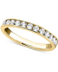 Macy's | Diamond Band Ring In 14k Gold Or White Gold (3/4 Ct. T.w.) | Lyst