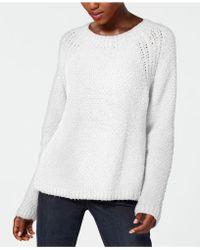 Eileen Fisher - Organic Cotton Long-sleeve Crew-neck Jumper - Lyst