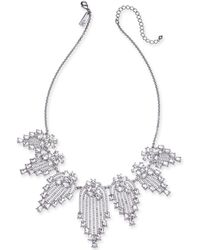 "INC International Concepts - I.n.c. Silver-tone Crystal Statement Necklace, 17"" + 3"" Extender, Created For Macy's - Lyst"