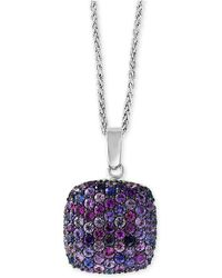 "Effy Collection - Splash By Effy® Purple Sapphire 18"" Pendant Necklace (7/8 Ct. T.w.) In Sterling Silver - Lyst"