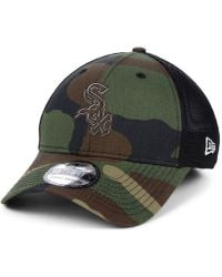 new style df7dd 85d46 KTZ - Chicago White Sox Camo Trucker 39thirty Cap - Lyst