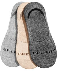 Sperry Top-Sider - 3-pk. Luxe Cushioned No-show Socks - Lyst