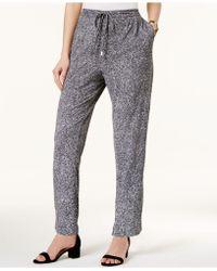 Olivia & Grace - Printed Drawstring-waist Studio Trousers - Lyst