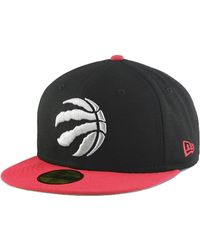 Lyst - KTZ Toronto Raptors Blackout 59fifty Fitted Cap in Black for Men 7a10ee980d3a