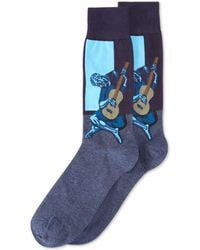 Hot Sox - Old Guitarist Crew Socks - Lyst