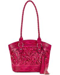 Patricia Nash - Burnished Tooled Zorita Satchel - Lyst