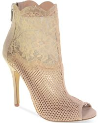 Chinese Laundry - Jeopardy Mesh Lace Booties - Lyst