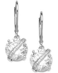 Giani Bernini - Cubic Zirconia Wrapped Drop Earrings In Sterling Silver - Lyst