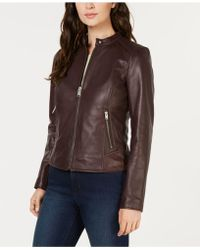Marc New York - Leather Moto Jacket - Lyst