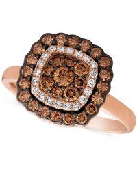 Le Vian - Diamond Framed Ring (7/8 Ct. T.w.) In 14k Rose Gold - Lyst