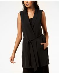Eileen Fisher - Silk Vest, Regular & Petite - Lyst