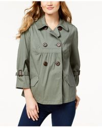 Style & Co. - Double-breast Swing Jacket, Created For Macy's - Lyst