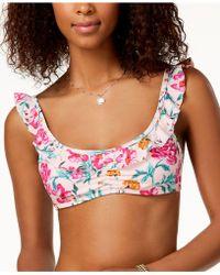 California Waves - Juniors' Ruffled Bralette Bikini Top, Created For Macy's - Lyst