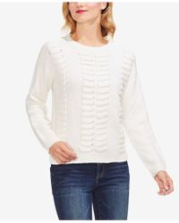 Vince Camuto - Laced-knit Jumper - Lyst